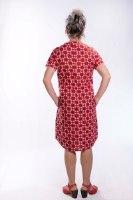 שמלת גלביה קצרה כותנה באדום