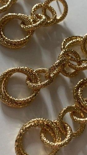 עגילי שאנל ארוך זהב