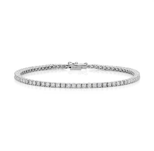 צמיד טניס דק יהלומים לבנים 1.75 קראט