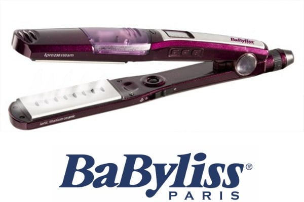 BaByliss  מחליק שיער קרמי עם אדים דגם ST395E