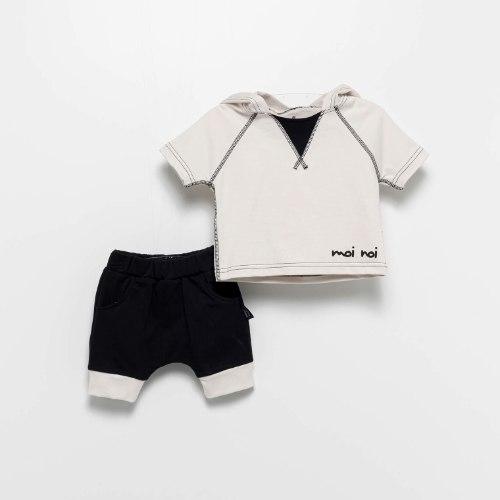 חליפת קפוצ׳ון קרם MOI NOI מידות - 6-24 חודשים