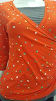 חולצת הנקה מעטפת עם שרוול 3/4 Nursing Anywear