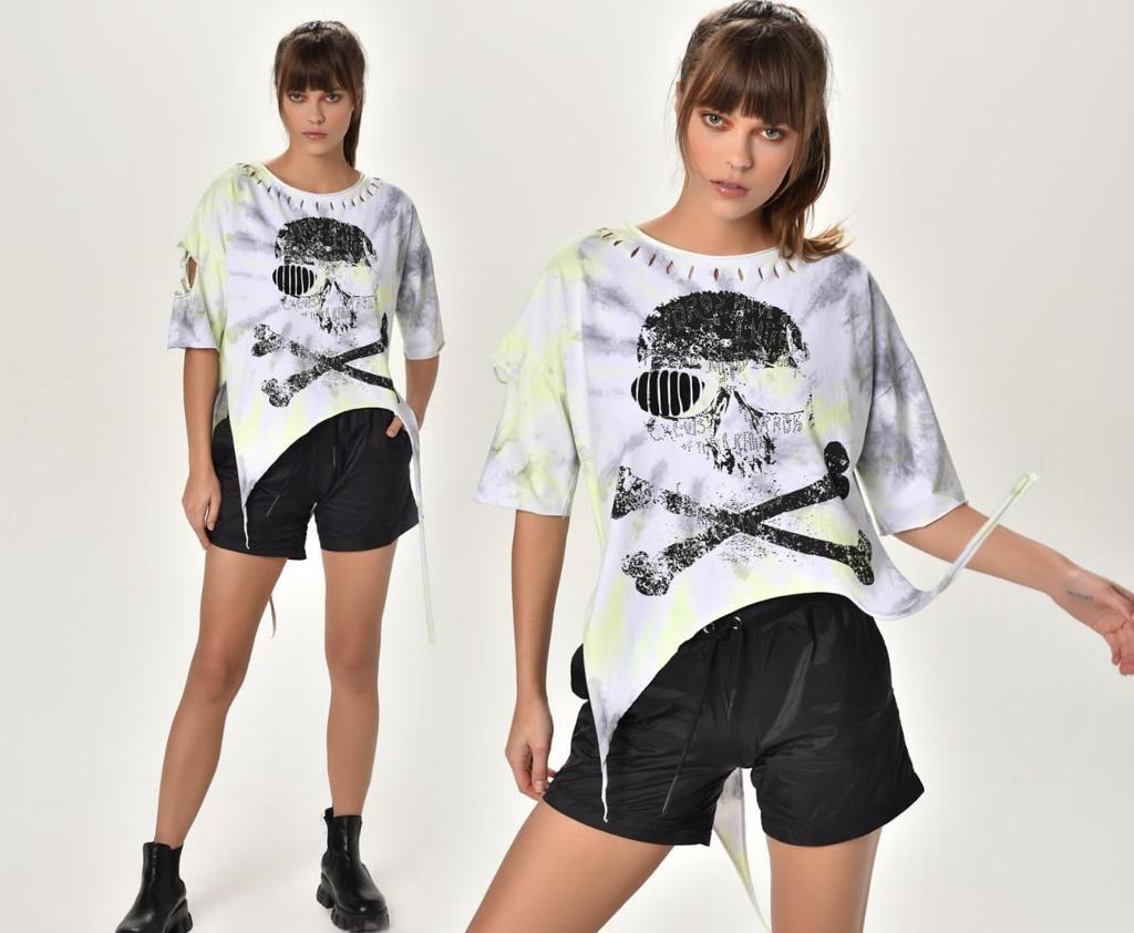 חולצה גולגולת FM