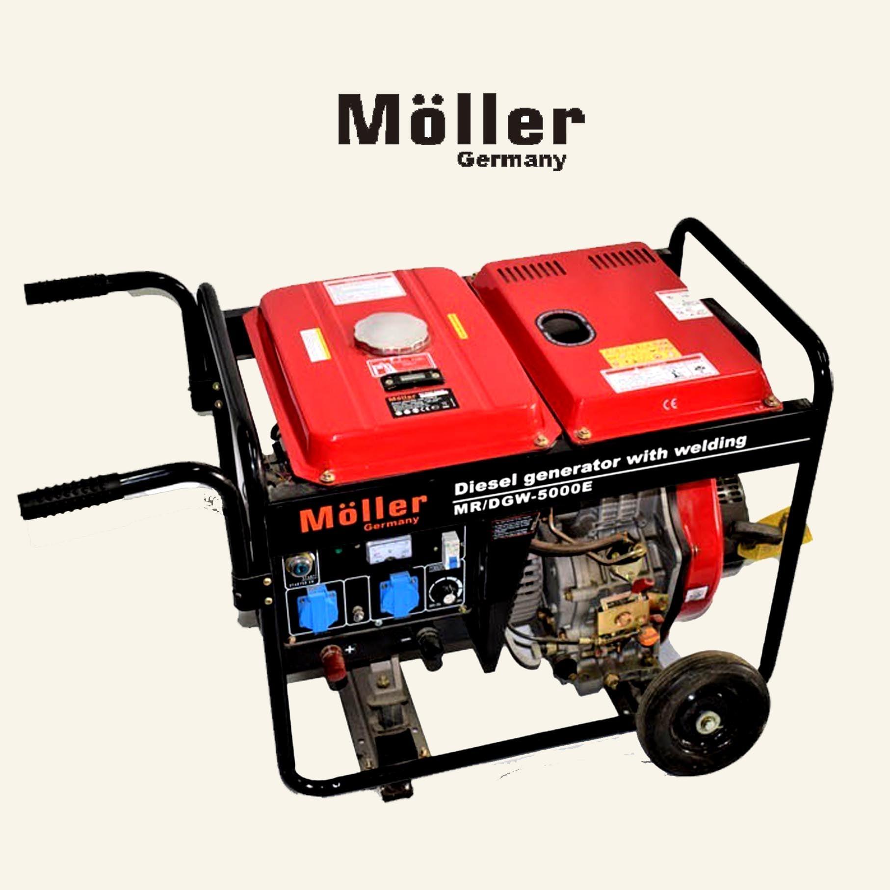 גנרטור רתכת 200A כולל גלגלים וידית נשיאה 5000W מבית MOLLER GERMANY