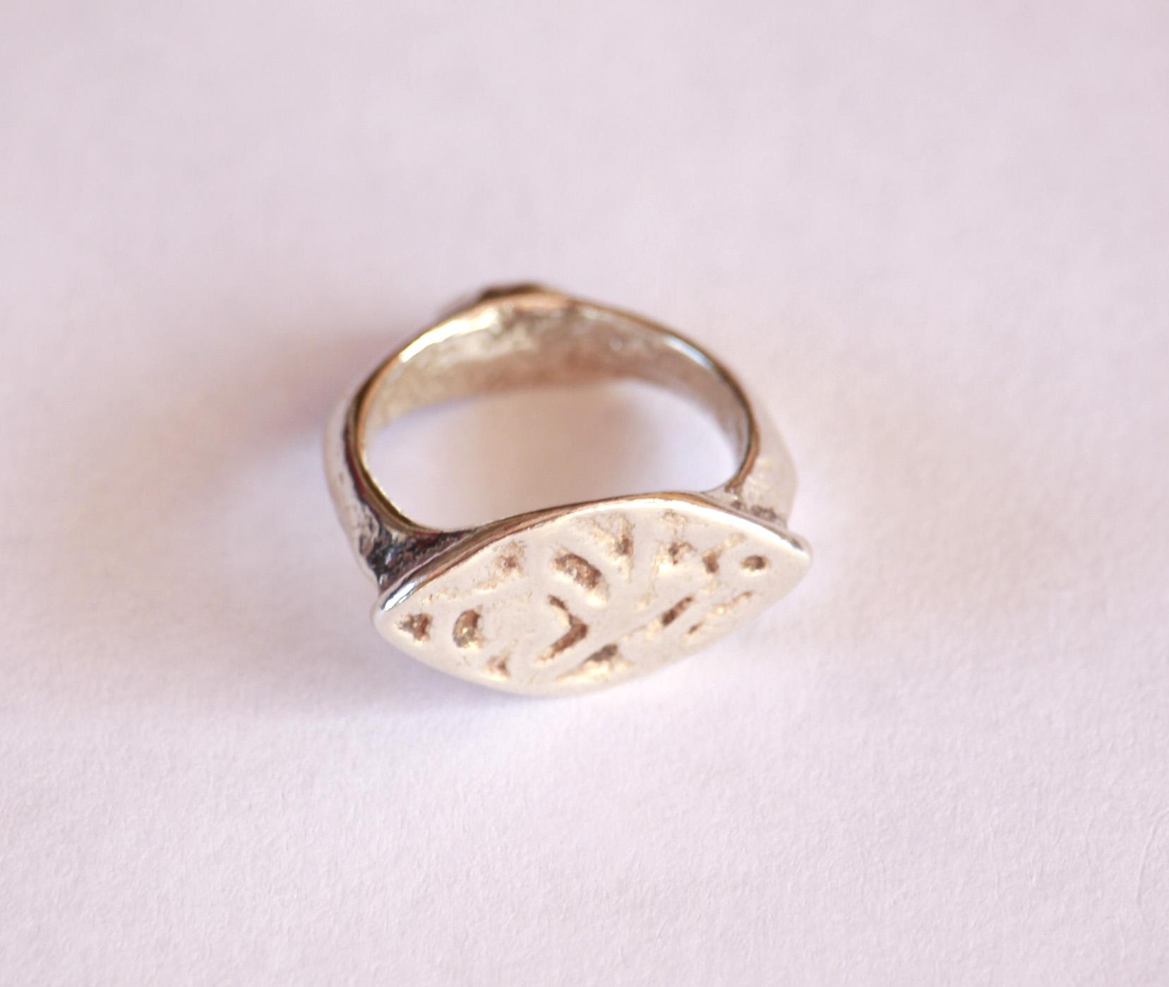 טבעת חותם עתיקה מהתקופה הרומית ביזנטית R117