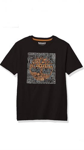 חולצה שחורה לוגו קאמל timberland