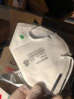 מסכת הגנה נשמית, ברמת הגנה N95 NIOSH של חברת 3M, לצמצום החשיפה לוירוס הקורונה