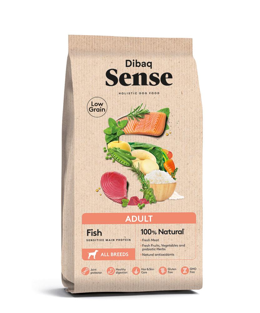 """סנס מופחת דגנים בטעם דגים לכלבים מגזע בינוני וגדול 2 ק""""ג"""