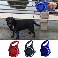 רצועה לכלב מובנית דיספנסר מים ואחסון שקיות פסולת