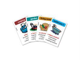 משחק רביעיות באנגלית gamelish | מסתובבים בבית  around the house