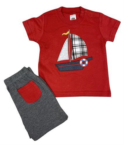 חליפה סירה אדום