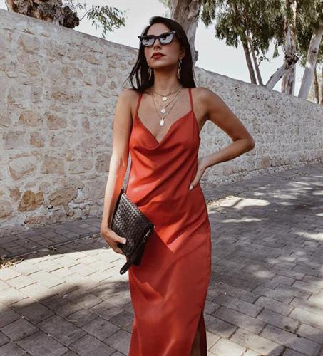 שמלת מידי דונה ליידי - אדומה