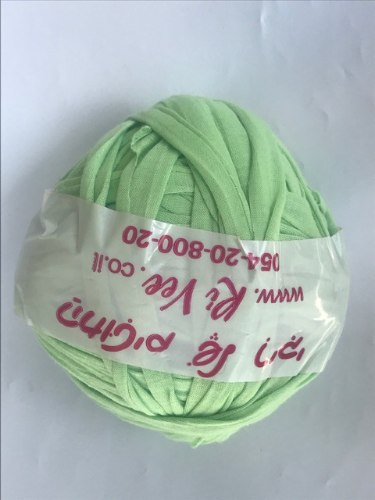 חוטי טריקו פרוסים לסריגה  מכירת עודפי ייצור צבע ירוק תפוח