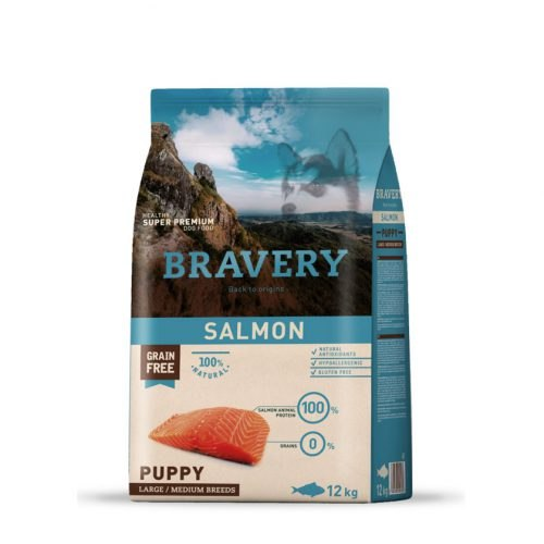 בריוורי מזון לכלבים בוגרים 100% דג סלמון ללא דגנים היפואלרגני