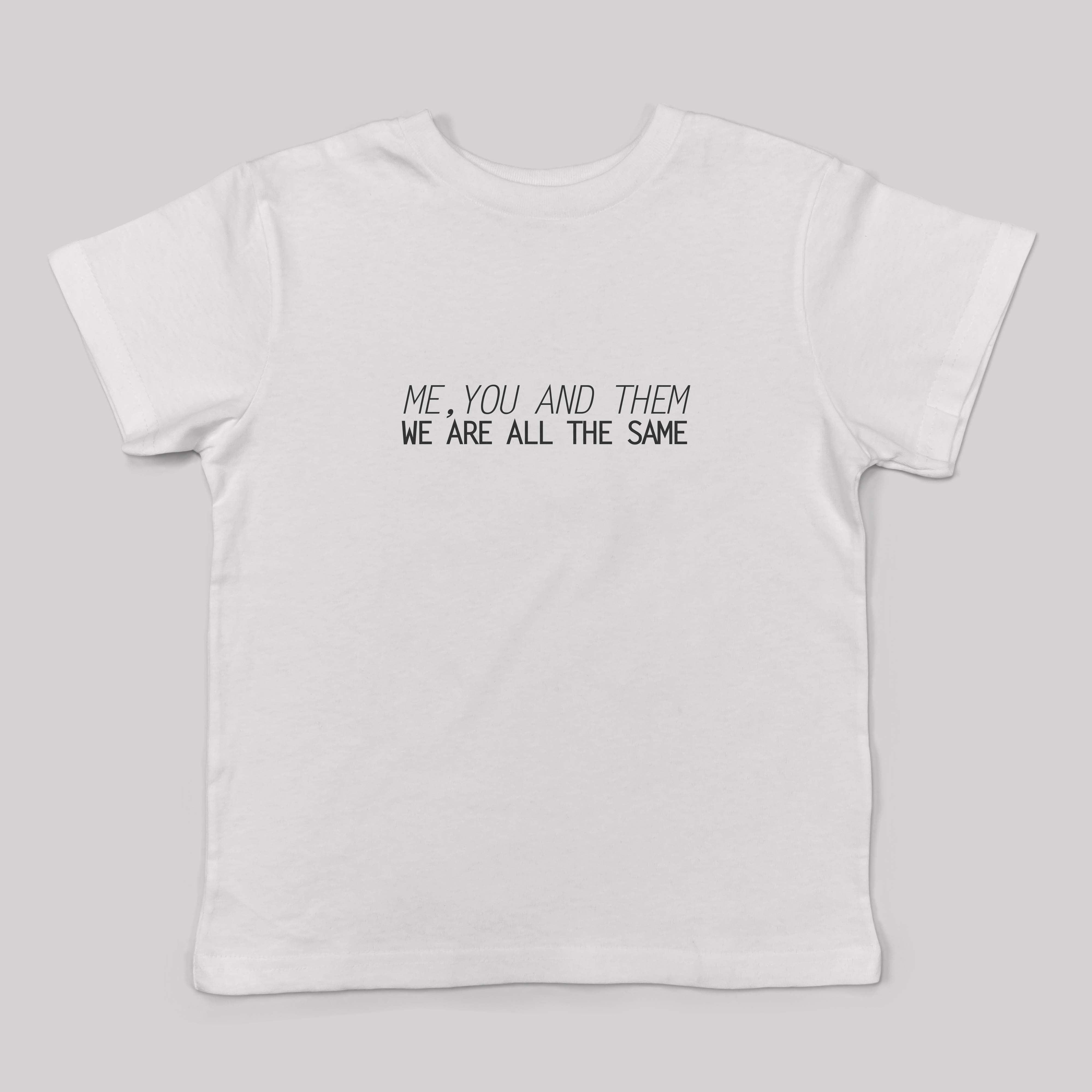 חולצת טי שירט יוניסקס me you and them
