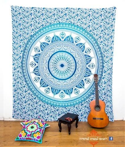 לונגי פרח מעגל כחול