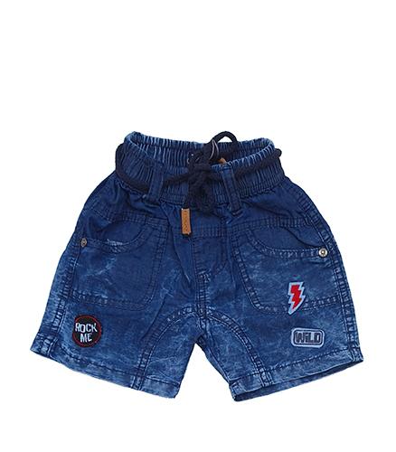 מכנס ג'ינס קצר משופשף