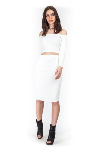 חליפת אודרי לבנה