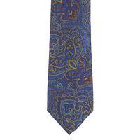 עניבה פייזלי כחול אדום משולב