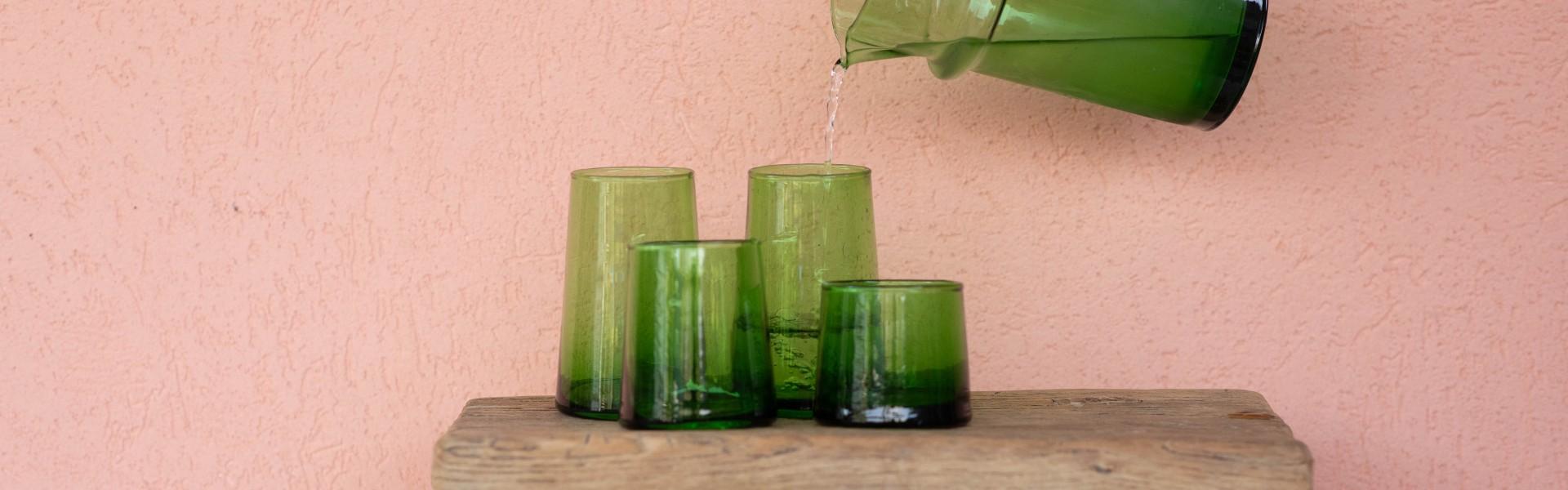 כוסות זכוכית - פנטזיה מרוקאית
