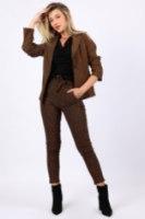 מכנס מייגן מחטב מיוחד חום/שחור