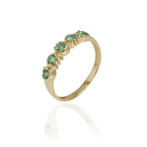 טבעת זהב ואמרלד