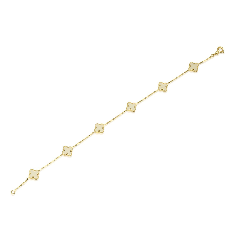 צמיד זהב עם אבן מונסטון טבעית