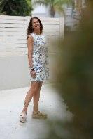 שמלה איור כחול