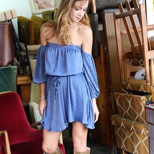 שמלת קלייר כחולה
