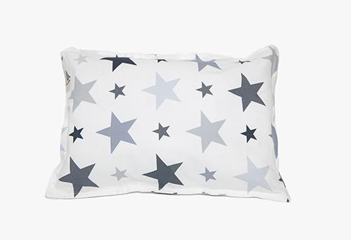 כרית שינה לתינוק לבן כוכבים אפורים