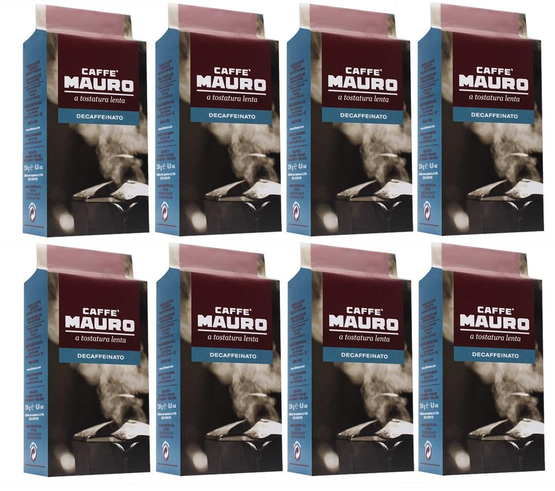 8 אריזות קפה מאורו נטול - 250 גרם טחון בואקום