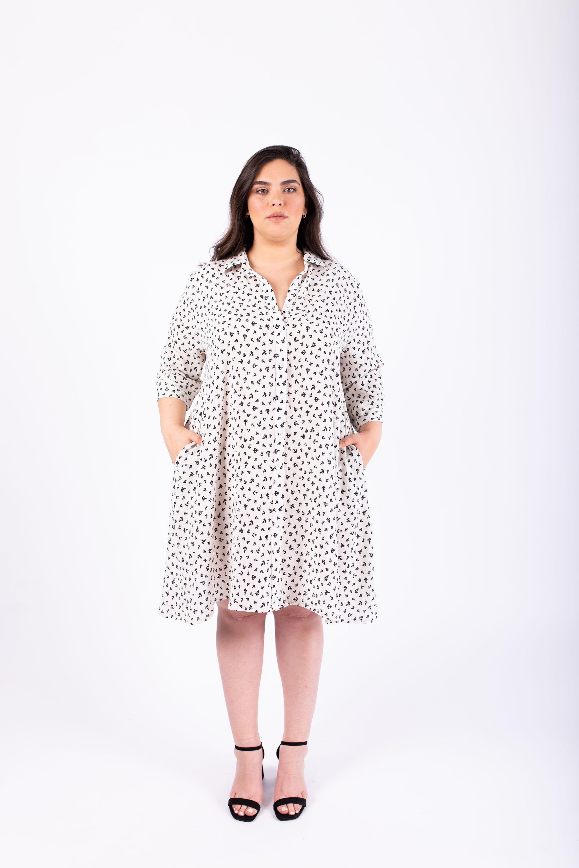 שמלת ניו יורק לבן עוגנים