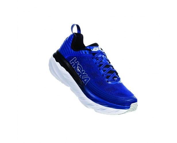 נעלי ריצה לגברים HOKA BONDI 6 WIDE כחול/לבן