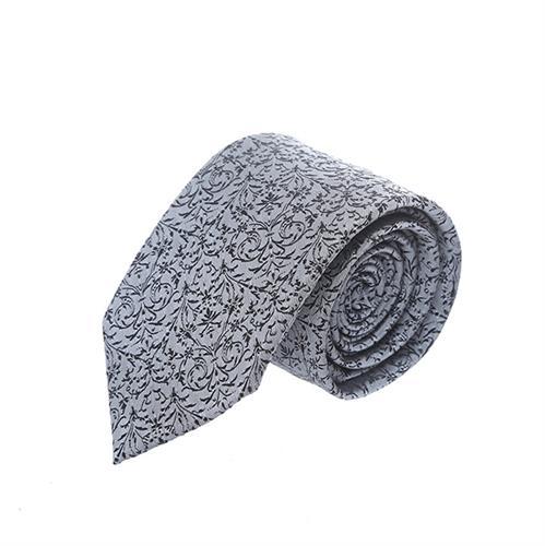 עניבה אפור משולב