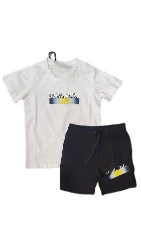 חליפת בנים שחור לבן כיתוב צהוב (FILA (2-16