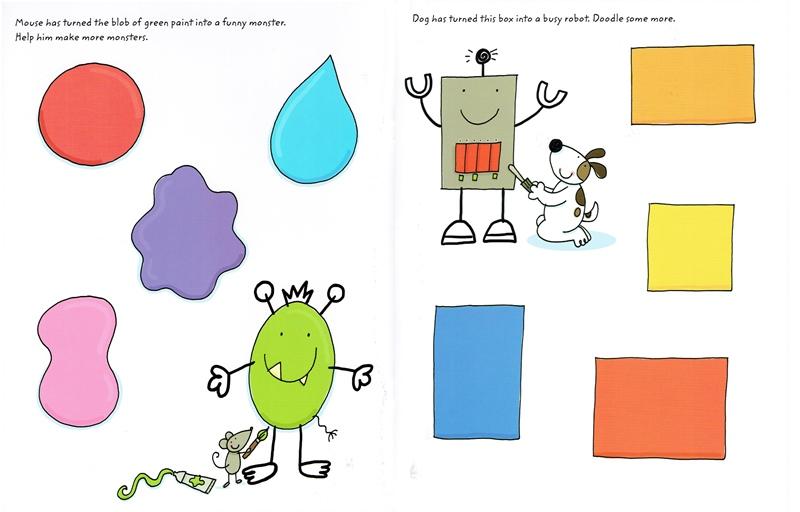 חוברת צבע ומחק - שירבוט