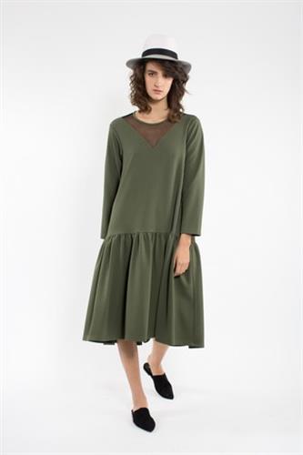 שמלת מיה חורף ירוקה