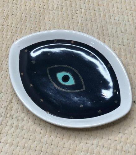 צלוחית עין גדולה- כחול רויאל