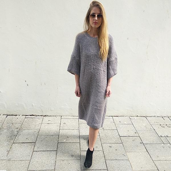 שמלת סריג (סוודר) ביאנקה אפור
