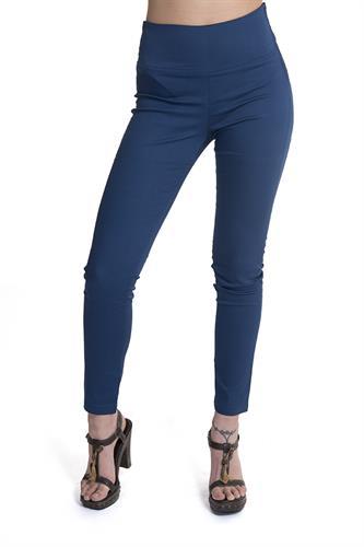מכנס צמוד עם רוכסן בצד בצבע כחול