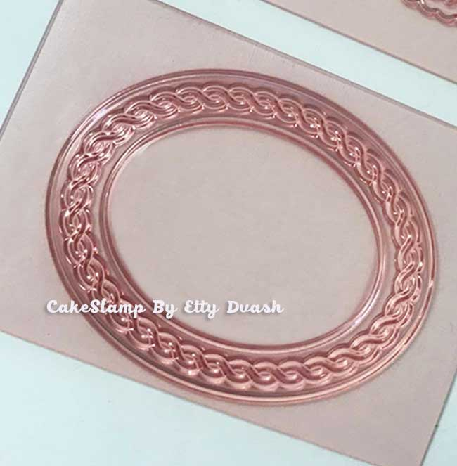 תבנית מסגרת חבלים אובלית קטנה- יחידה אחת