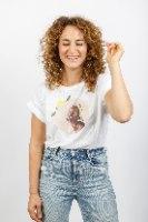 חולצת טישירט קרופ - HAPPINESS