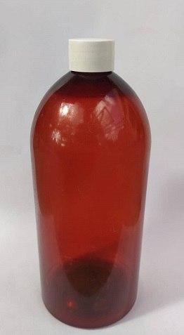 בקבוק פלסטיק חום ליטר + פקק חום!