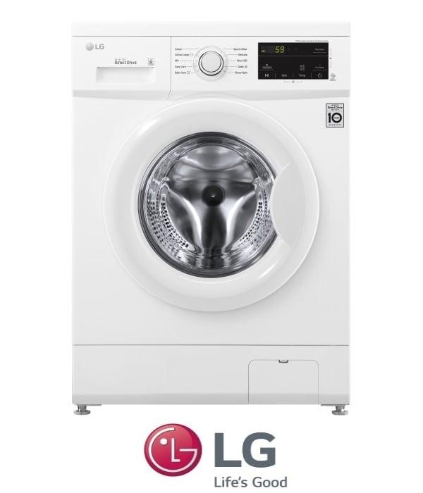 "LG מכונת כביסה 6 ק""ג דגם F0662W"