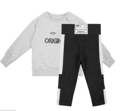 חליפת מעבר תינוקות אפור שחור