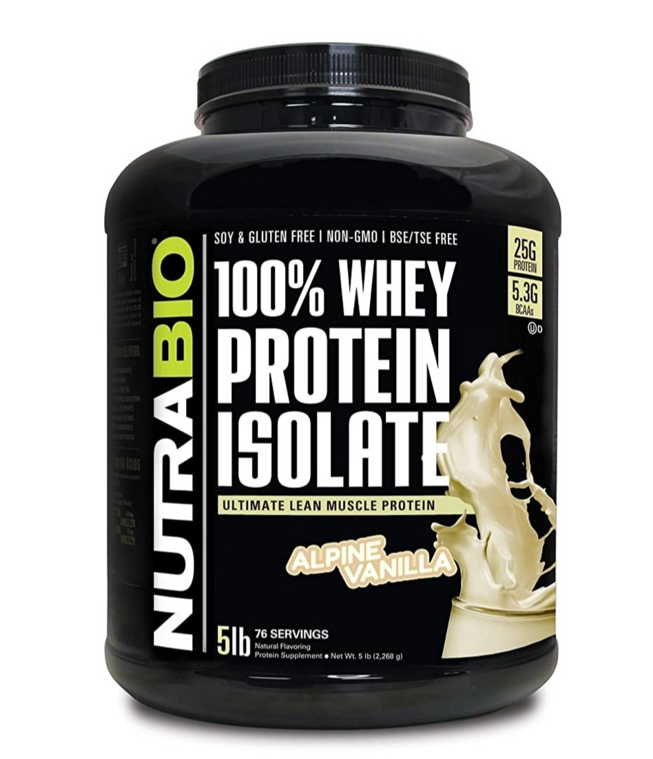 אבקת חלבון NUTRABIO 100% PROTEIN ISOLATE