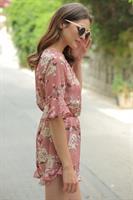 אוברול שיפון פרח מלאני