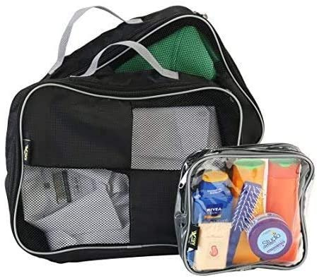 קוביות אריזה סט של 3 CABIN MAX- מצויין לארגון התיק או המזוודה- צבע שחור