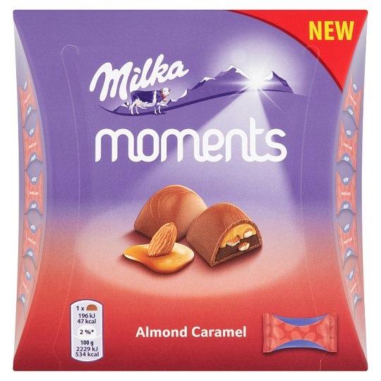 מילקה מומנטס - בטעם שקדים וקרמל