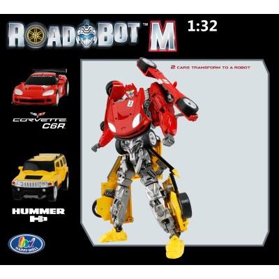 רובוטריק שתי מכוניות האמר וקורבט משולבות